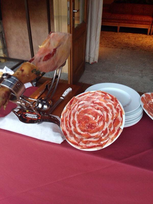 Boda con cortador de jamón en la Masía de José Luis